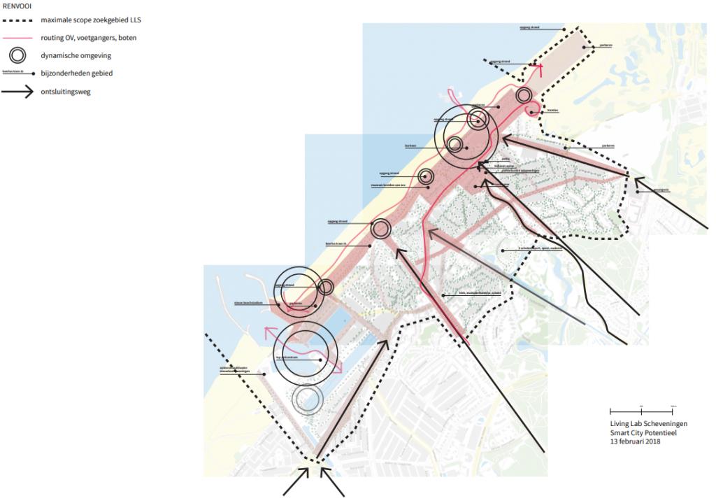 Schematische weergave Smart City Potentieel in stadsdeel Scheveningen